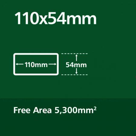 110 x 54 mm Plastic Duct