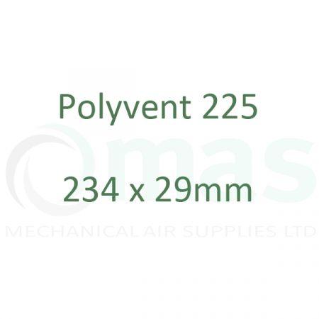 234 x 29 mm Plastic Duct