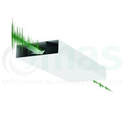 DOMUS Plastic Duct Sound Attenuator, Microban Protected 220X90mm,204x60mm