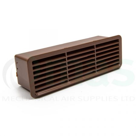 Plastic-Duct-Systems-Plastic-Airbrick-Backdraft-Shutter Brown