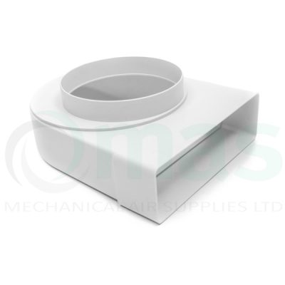 Plastic-Duct-Systems-Square-to-round-elbow-offset-spigot-0001
