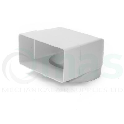 Plastic-Duct-Systems-System-100-Square-to-Round-Elbow-with-socket-0001