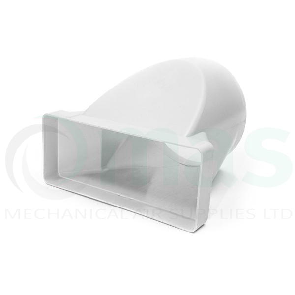 Rectangular To Round In Line Adapter 220 X 90mm 150mm