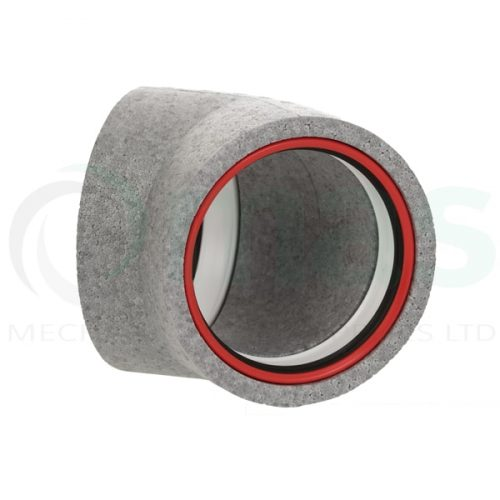 160-125-Diameter-Verplas-Self-Seal-Thermal-Duct-45-degree-bend