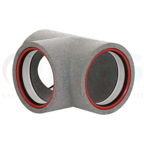 160-125-Diameter-Verplas-Self-Seal-Thermal-Duct-90-degree-tee-piece