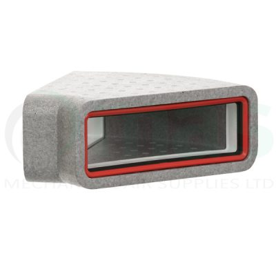 Verplas-self-seal-thermal-duct-horizontal-45-degree-bend