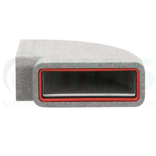 Verplas-self-seal-thermal-duct-horizontal-90-degree-bend