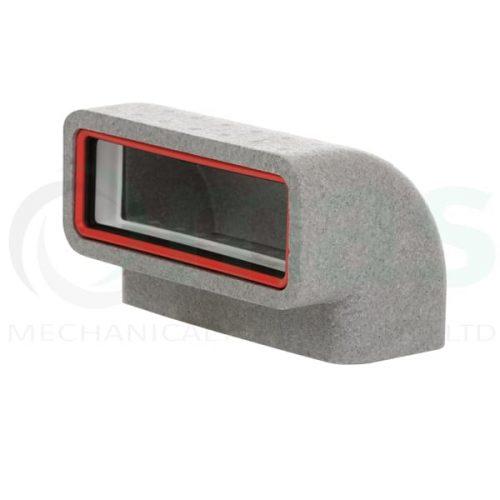 Verplas-self-seal-thermal-duct-vertical-90-degree-bend