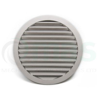 Face view of a cast aluminium circular waether louvre