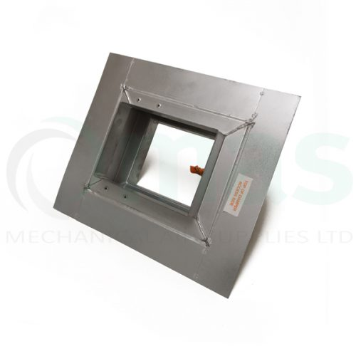 Rectangular-square fire damper with drywall flange