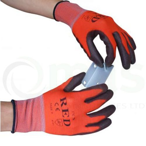 Red-Safety-Gloves
