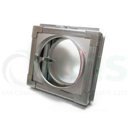 Circular Fire Damper with Frame