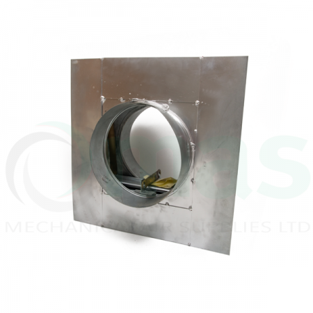 Circular Fire Damper with Drywall Flange