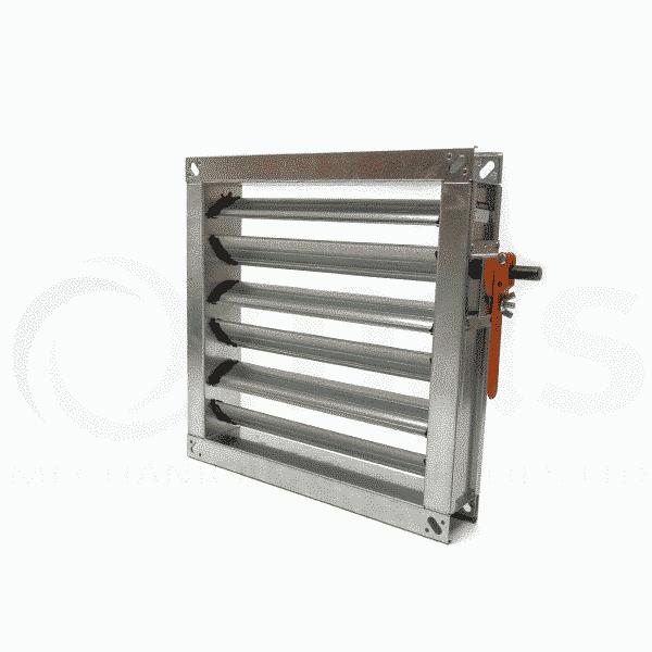 Volume Control Damper : Multiblade volume control damper flanged slim fit