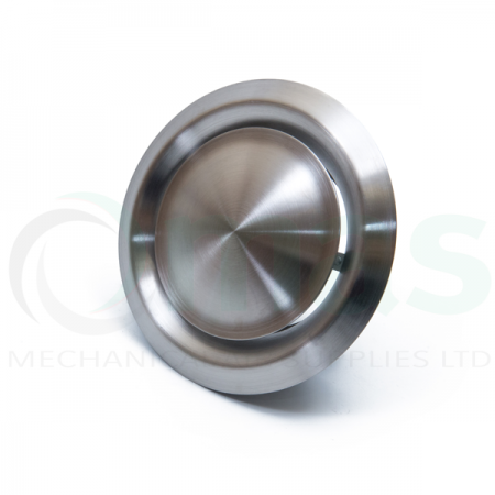 Brushed Finish Stainless Steel Extract Air Valve