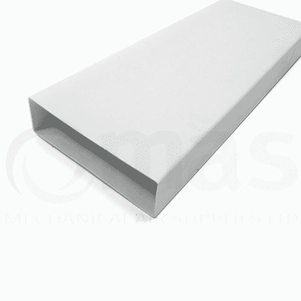 Supertube rigid plastic flat channel duct mechanical