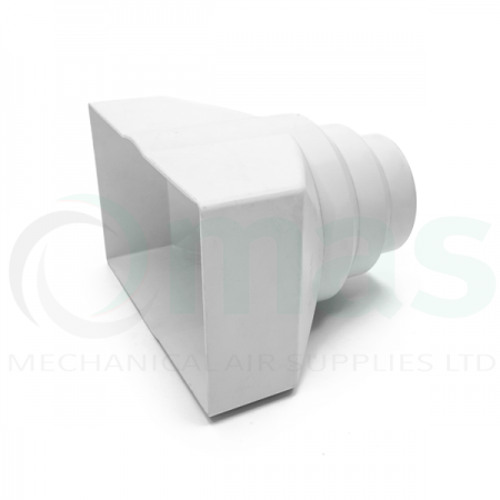 Double Airbrick Adapter for Circular Plastic Duct