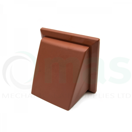 Terracotta Cowled Wall Outlet with damper (Rectangular Spigot)