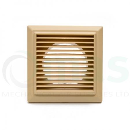 Cotswold-Beige Louvred Grille (with round spigot)