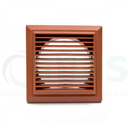Terracotta Louvred Grille (with round spigot)
