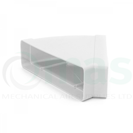 Horizontal 45° Bend for Rectangular Plastic Duct
