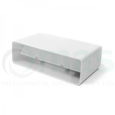 Flat Channel Connector with backdraft shutter for Flat Channel Plastic Duct