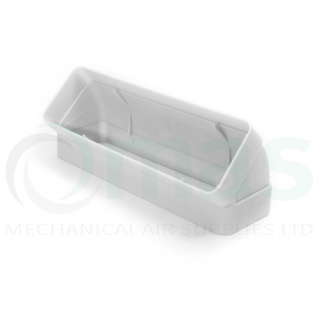 Vertical 45 Degree Bend for Flat Channel Plastic Duct