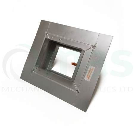 rect angular fire damper with dry wall plate