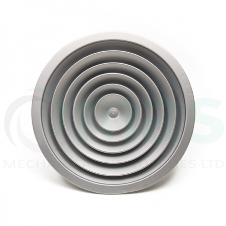 Small Format Circular Diffuser without Damper - Mill Finish