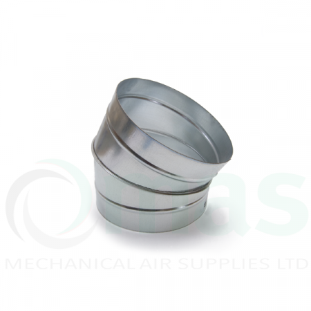 30 degree segmented bend for ventilation duct