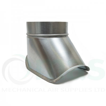 Curved Boot for Spiral Ducting