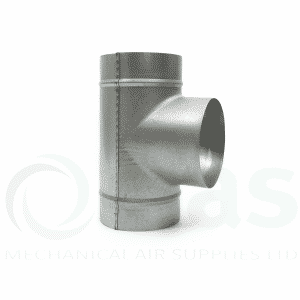 T Pieces For Spiral Ducting 90 Deg Equal T Piece