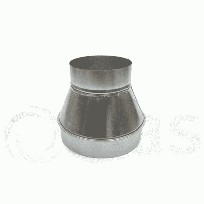 Fabricated circular reducer