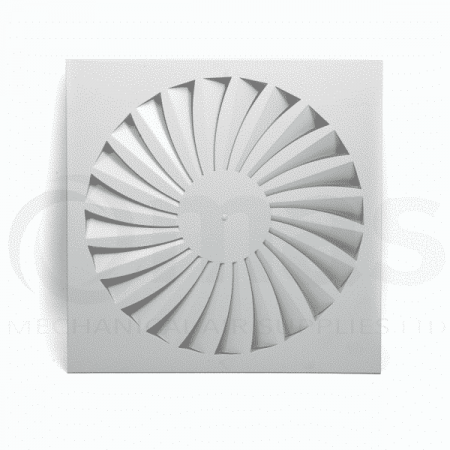 Swirl Ceiling Diffuser (Curved Blades)