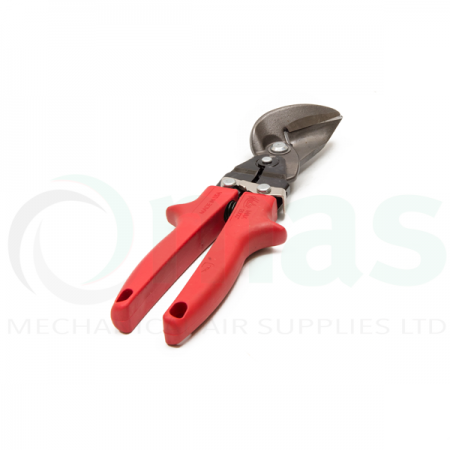 Offset Tin Snips - Left Hand Cut (Red Handle)