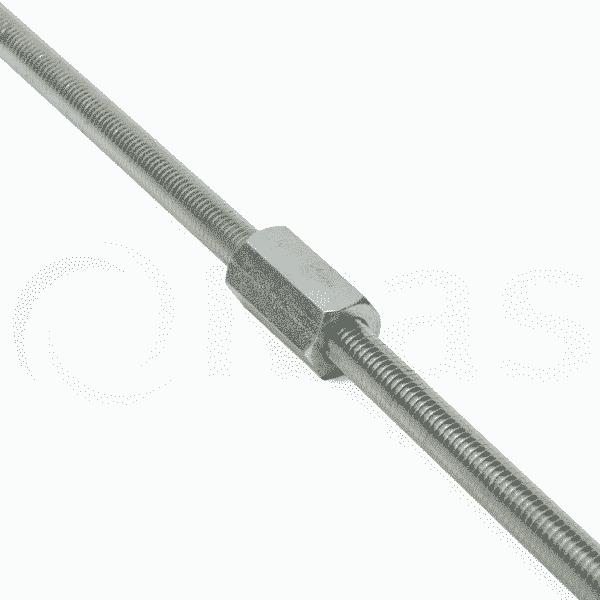 Connector for threaded rod studding mechanical air