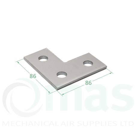 Flat 90° Channel L Bracket