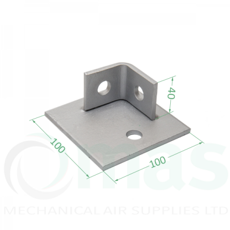 Single Channel Base Plate (2 Holes)