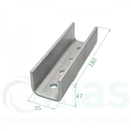 External Channel Connector Bracket for 40x40 channel