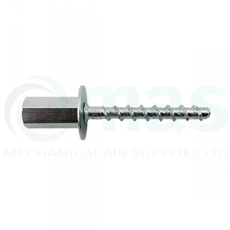 Side profile of a stud cracked concrete screw