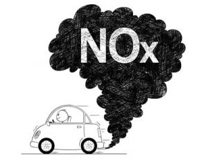 Cartoon of a Car with NOx coming out of the exhaust